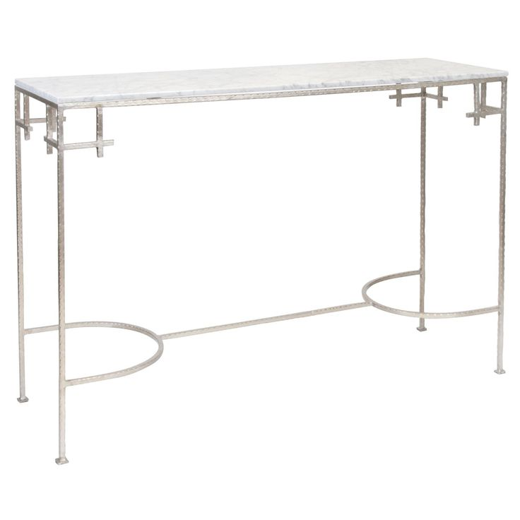 MARCY SILVER CONSOLE TABLE - Console Tables - Tables