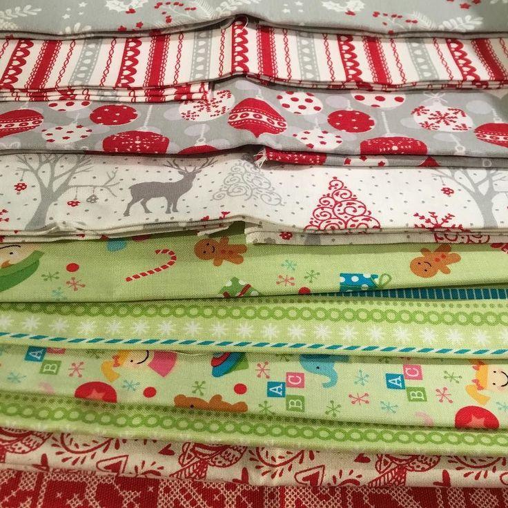 Fabulous Christmas fabrics courtesy of @emmasfabricstudio  @sewhayleyjane and @fabricsgalorelondon - Im thinking stockings for my Etsy shop and Etsy madelocal market in Coventry on 3rd December at FarGo Village  . . #christmasfabric #christmasstockings #etsymadelocalcoventry #etsyseller #fargovillagecoventry