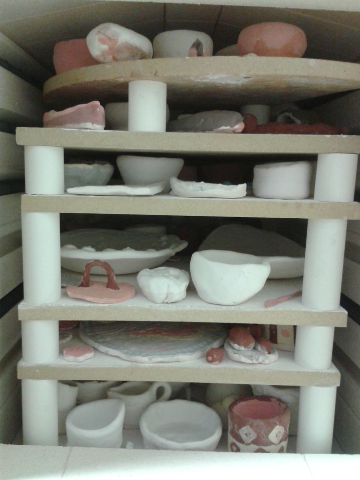 kiln packed and ready for glaze firing (13.06.14)