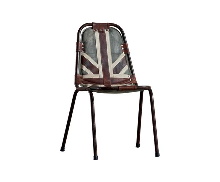 Sedia in metallo e tessuto Extreme English - 58x88x54 cm | Dalani Home & Living