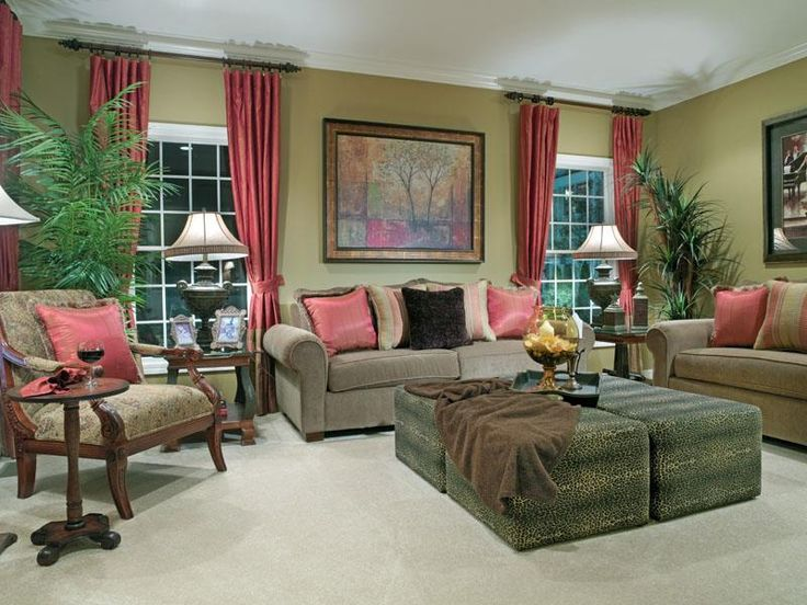 colorful family room ideas