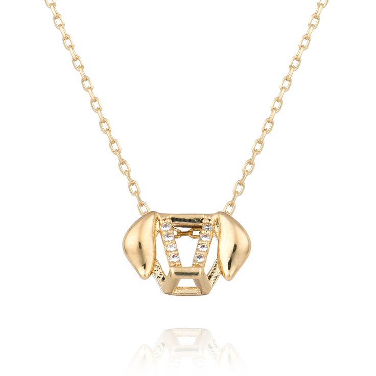 Chinese Zodiac Dog necklace in gold