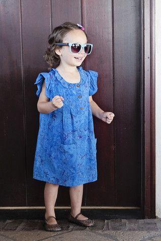 summer dress, batik dress, kids dress, fashion