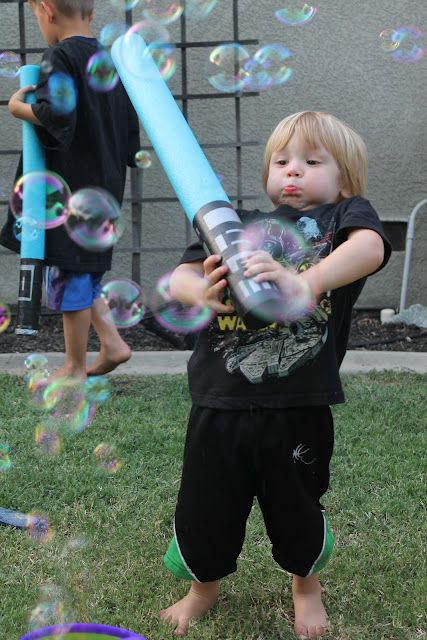 Star Wars Party - Pool Noodle Lightsaber- practice your light sabor skills on bubbles - more fun for older kids!