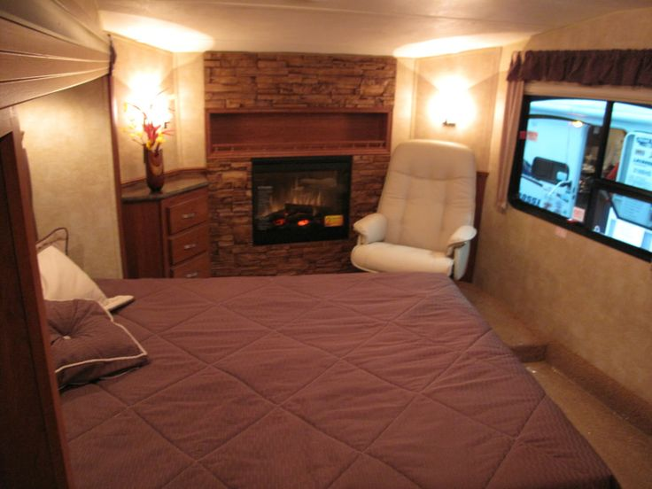 Rv Bedroom With A Fireplace Too Cozy Vision Board