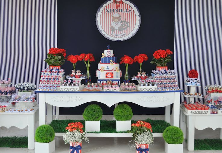 Festa Provençal: Marinheiro: Of Celebrating, Party Decoration, Nautical Party, Festa Ursinho Marinheiro, Children'S Parties
