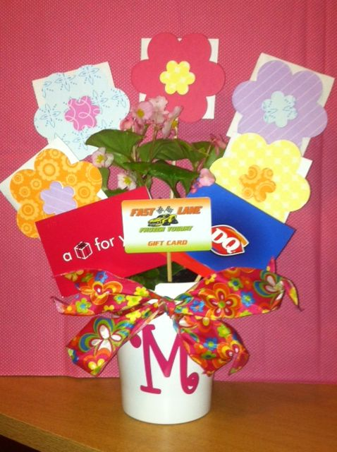 25 unique gift card bouquet ideas on pinterest gift card basket gift card tree for teacher appreciation or end of the year gift negle Images