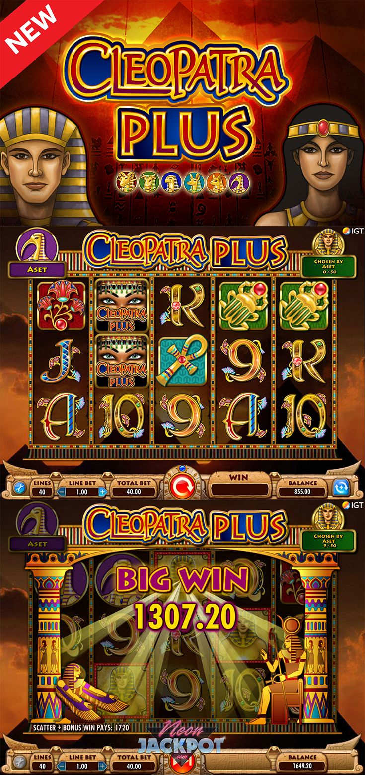 Uncover the secrets of Egypt while playing the Cleopatra Plus online slot for free at The SpinRoom.