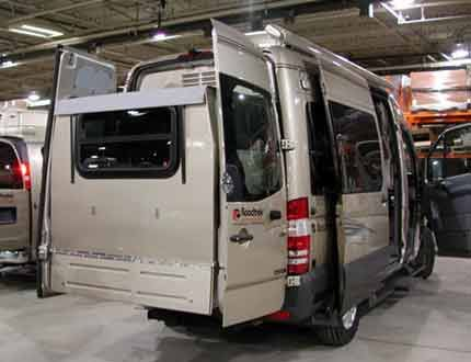 Sprinter RV, The Camper Van From Heaven RoadTrek Rear Slide Out