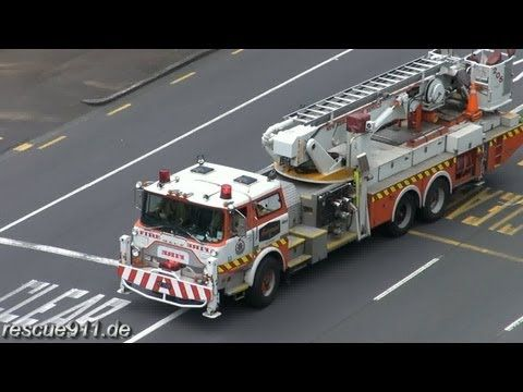 Aerial 205 New Zealand Fire Service Auckland City Fire Station - YouTube