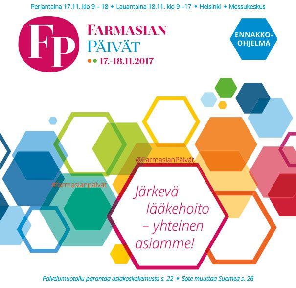 Farmasian Päivät 2017 - ennakko-ohjelman suunnittelu ja taitto.