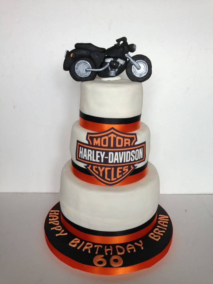 Harley Davidson Themed 60th Birthday Cake Harley