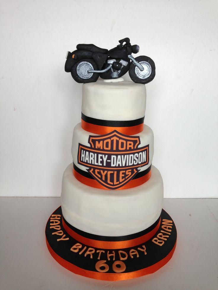 Harley Davidson Themed 60th Birthday Cake Novelty