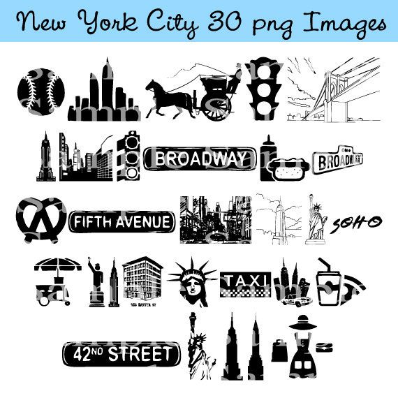 New York City Clip art INSTANT DOWNLOAD Manhattan, Taxi Cab Graphics Clipart Digital Clip Art Scrapbooking Personal and Commercial Use on Etsy, $4.57 AUD