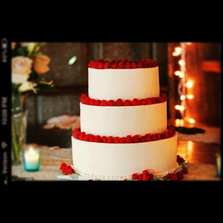Almond Raspberry Wedding Cake