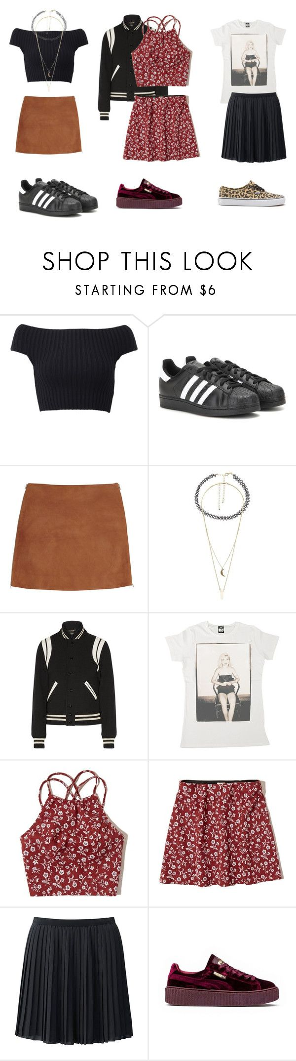 """""""party style"""" by anaunderground on Polyvore featuring moda, Michael Kors, adidas, Jonathan Saunders, Charlotte Russe, Yves Saint Laurent, Hollister Co., Uniqlo, Puma e Vans"""