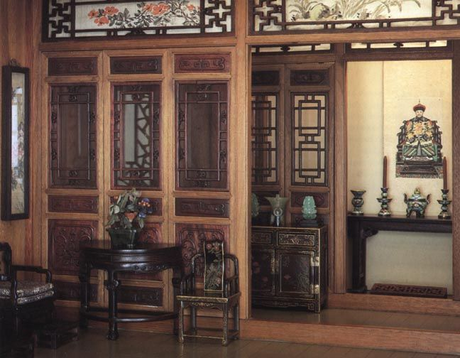 Ancient Chinese Temple Interior The