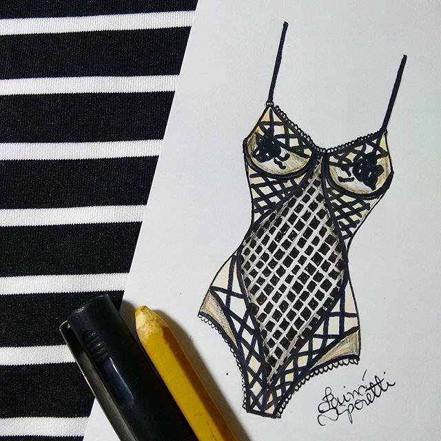 ▫▪ #draw #drawing #fashion #love #inlove #fashionillustration #illustration #lingerie #intimates #instagood  #fashiondesign #designdemoda #moda #art  #arte #croqui #handmade #lookdodia #body #bodysuit #lookoftheday #lace #vintage #fashion4arts