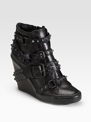Ash Studded Wedge Ankle Boots