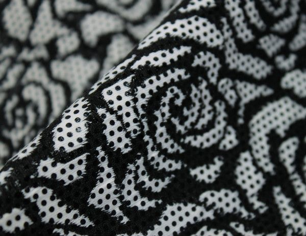 Roses & Dots Jersey Fabric - WeaverDee.com Sewing & Craft