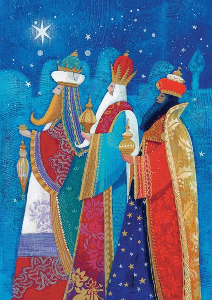 xmas card kings | Charity Christmas Cards for CRY - Three Kings (Gold foil)