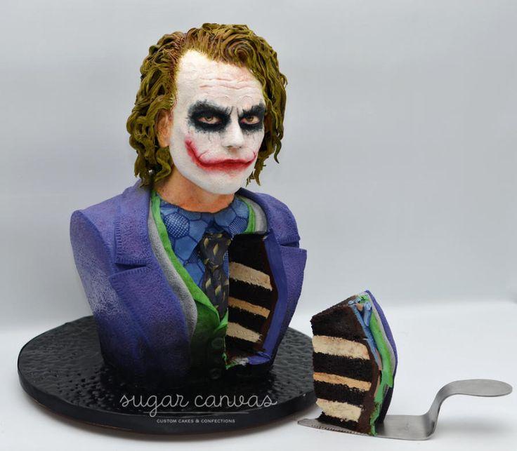 Joker cake bust by Sugar Canvas