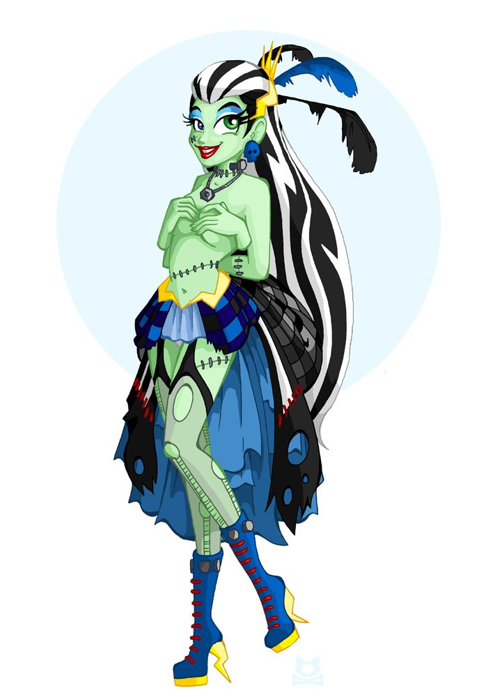 cartoon monster high girls nude - Mistress' of Monster High - Frankie Stein by LillyKitten