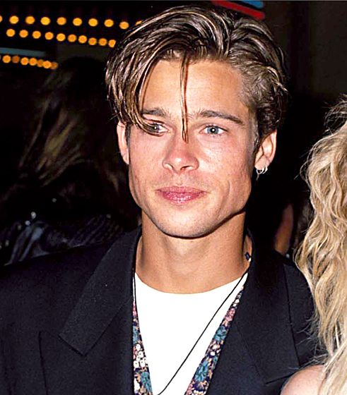 Sept. 9, 1990: At the 1990 MTV Video Music Awards, Pitt's tresses were frosted and parted to the side.