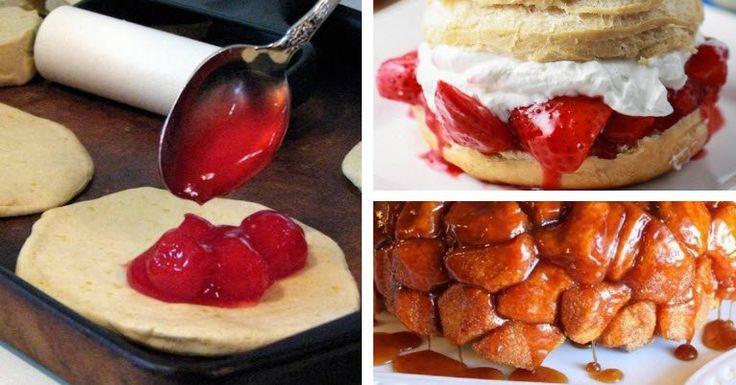 12 einfache Rezeptideen mit Aufbackbrötchen-Teig, die lecker sind und schnell gehen! Guten Appetit! :D