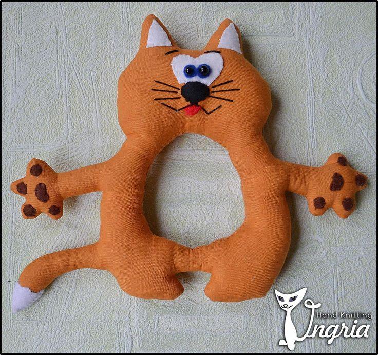 Купить Игрушка на фотоаппарат Кот - оранжевый, игрушка на объектив, игрушка для фотографа, игрушка на фотоаппарат