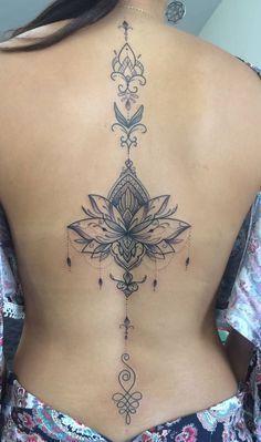 Tattoo; Back tattoo; English short sentence tattoo; Spine tattoo; Tattoo Zi …