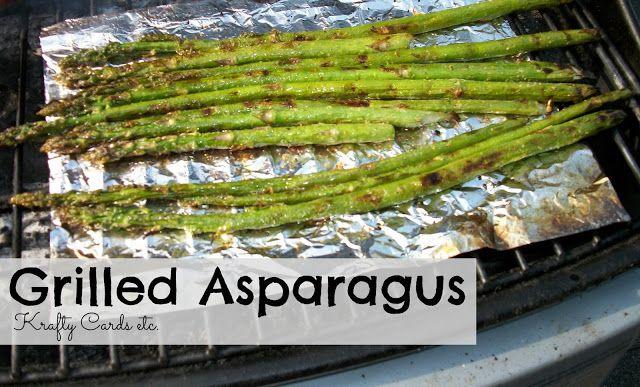Krafty Cards etc.: Fresh Asparagus on the Grill