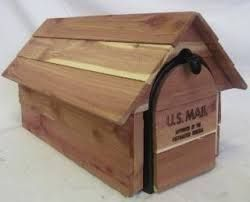 Image result for wooden mailboxes