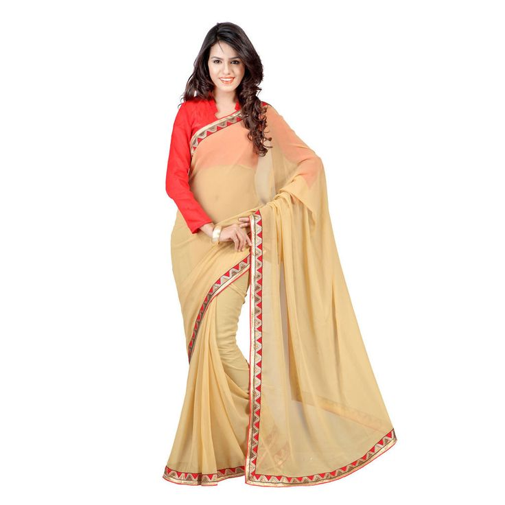 Party Wear Fawn Color #Saree Dress