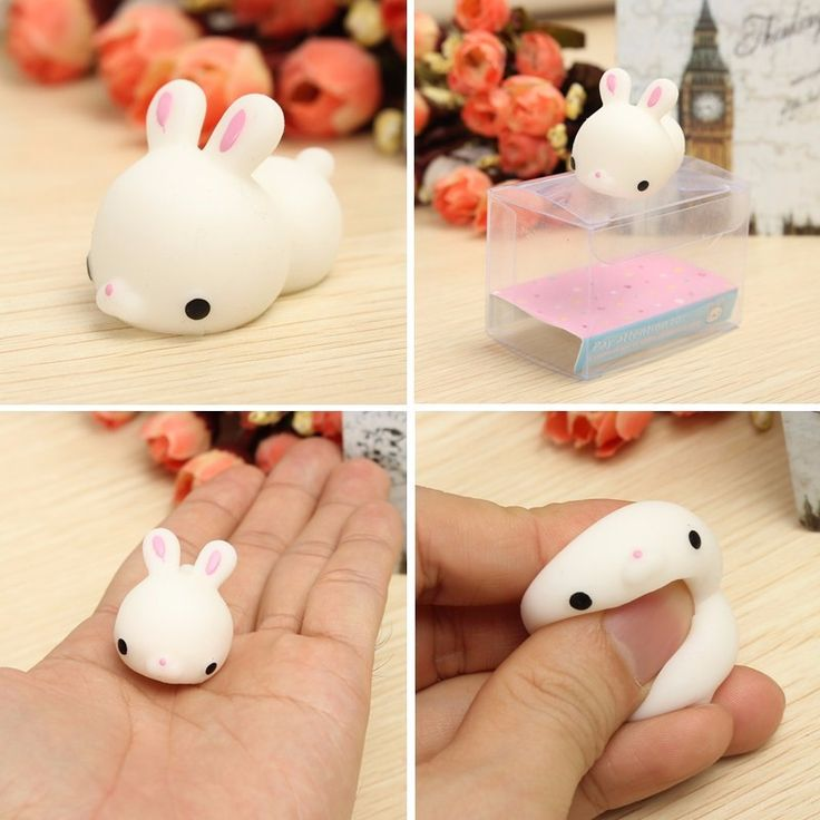 Mochi Bunny Rabbit Squishy Squeeze Cute Healing Toy Kawaii Collection Stress Reliever Gift Decor