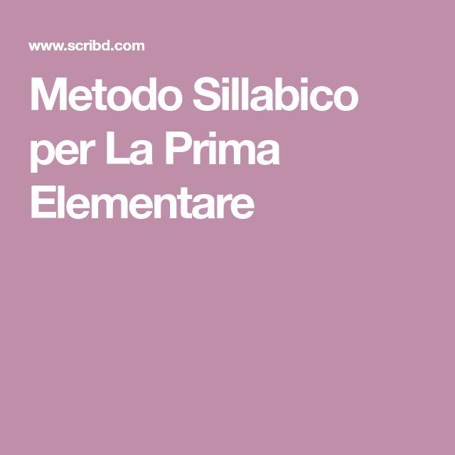 Metodo Sillabico per La Prima Elementare