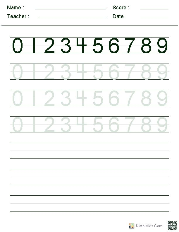 number writing sheets - Peopledavidjoel - Numbers In Writing