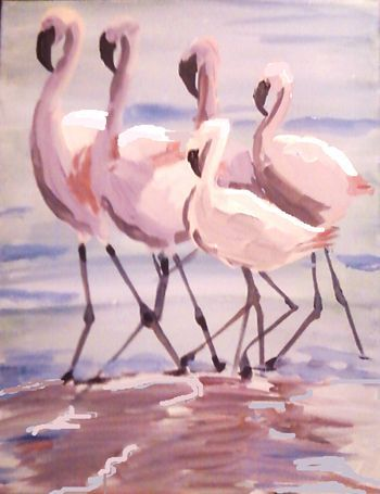 Come paint 5 Flamingos.. Click on the image to book!