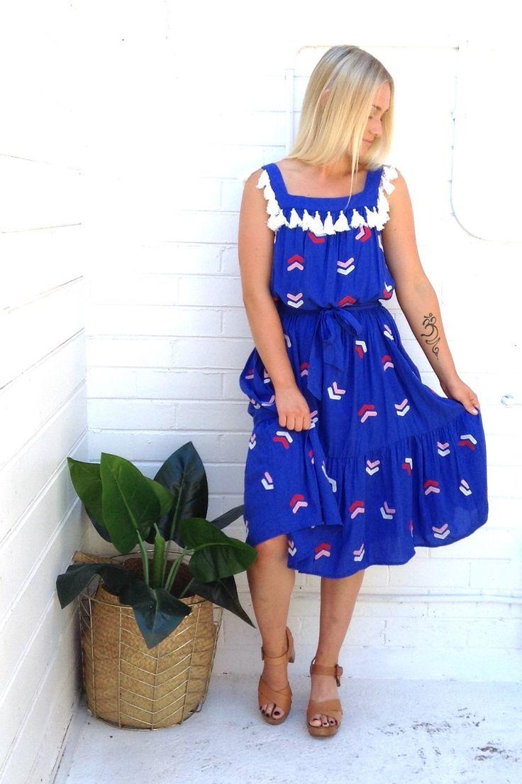 Madison Square - Medusa Embroidered Dress