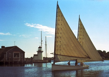 New Haven Sharpie | Favorite Places & Spaces | Wooden boat building, Boat, Sailing ships
