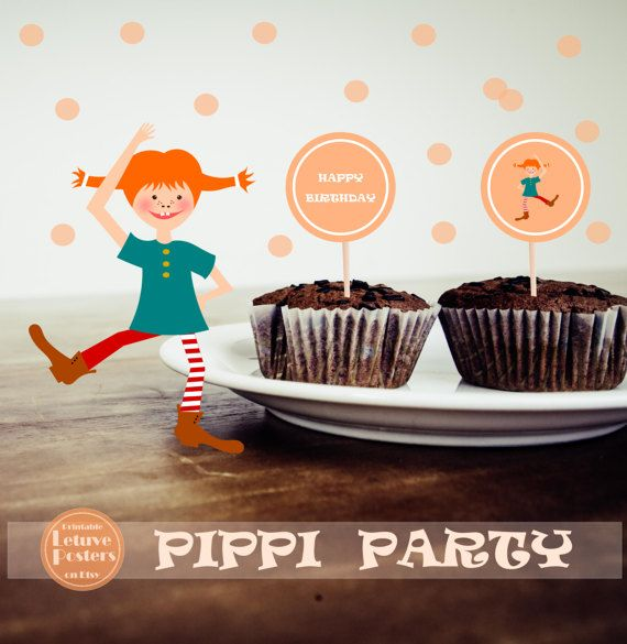 PIPPI PARTY SET Printable Girls Birthday By LetuvePosters On Etsy