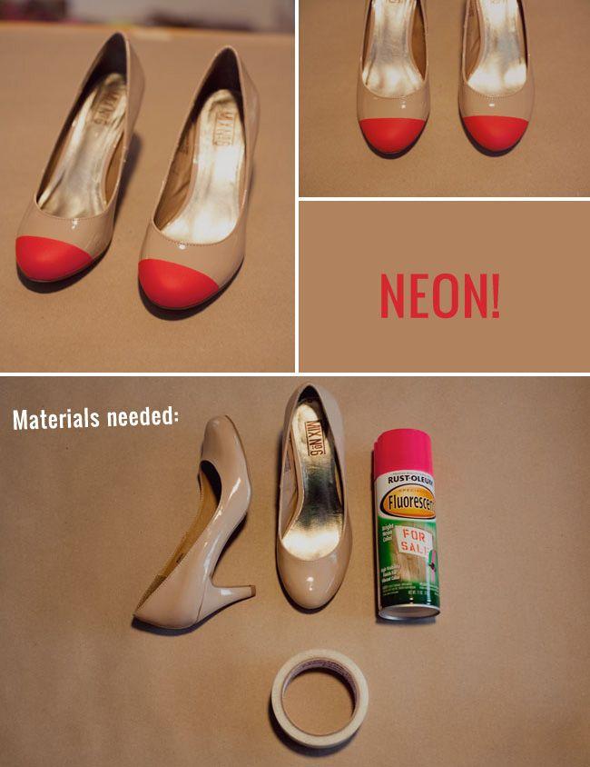 Zapatos neón