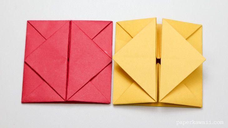 origami envelope or box instructions #origami #tutorial #diy