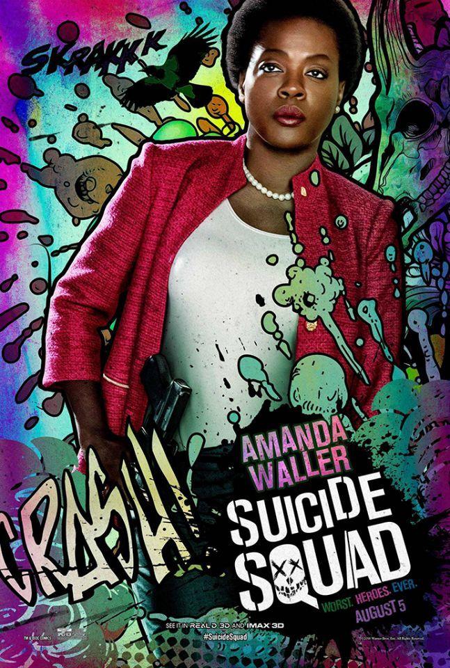 Suicide Squad posters : Viola Davis est Amanda Waller