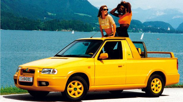 Did you miss the Subaru Brat? Well, in the late 1990s, Škoda had just the ticket for you!
