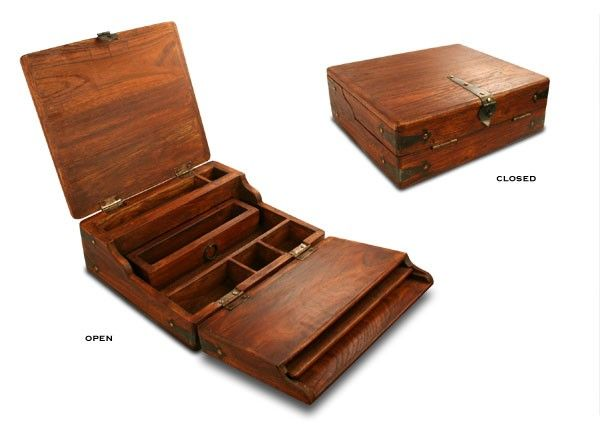 President Lincoln | Distressed Wood Writing Desk - Homepage Online Store