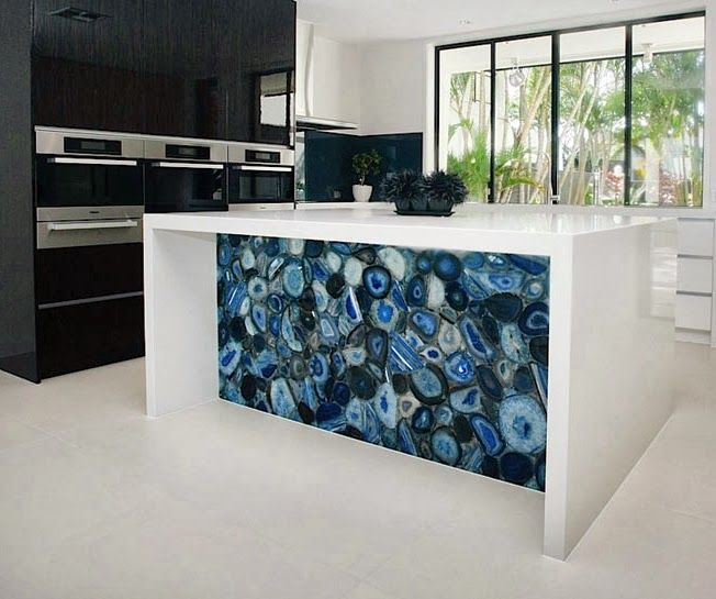 Beautiful use of concetto caesar stone in a kitchen island caesarstone international - Awesome kitchen from stone more cheerful ...