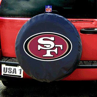 San Francisco 49ers NFL Spare Tire Cover Black by Fremont Die ** Details can be found by clicking on the image.