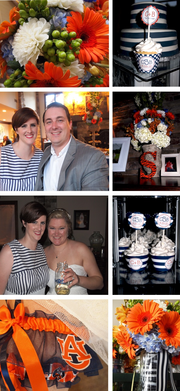 Auburn Themed Wedding