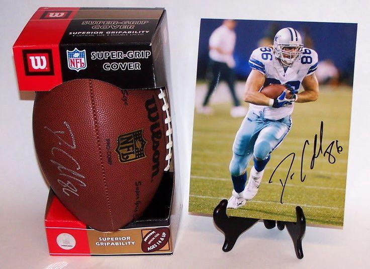 Dan Campbell Dallas Cowboys Football Team Signed Football & Photo New  #DallasCowboys